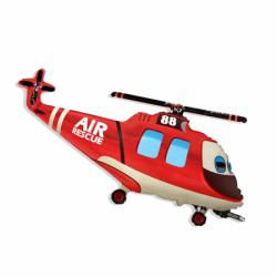 Фольгированный шарик пожарный вертолет на 23 февраля