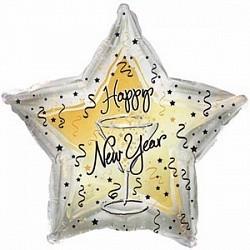 Шар Звезда «С Новым годом» бокал