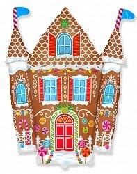Фольгированный шарик на Новый год «Пряничный домик»