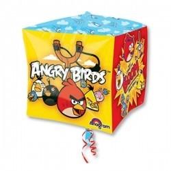 Фольгированный ШАР-кубик ANGRY BIRDS