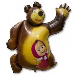 Шар из фольги фигура Маша и Медведь