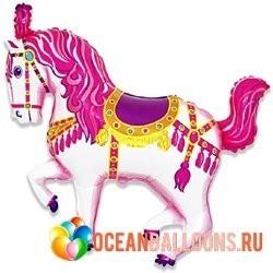 Шар из фольги лошадь карусельная