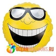 Фольгированный шар Мистер улыбка