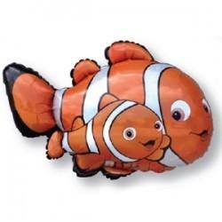 Фольгированный шар Рыба-клоун «Немо»