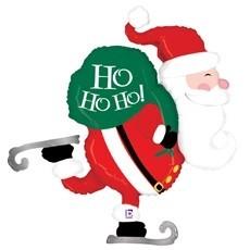 Фольгированный шар Веселый Санта