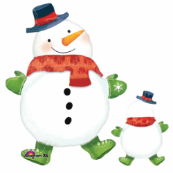 Шар на Новый год «Веселый снеговик»