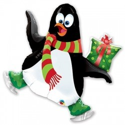 Шар «Пингвин на коньках»