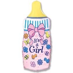 Шарик для дочки «Бутылка розовая»