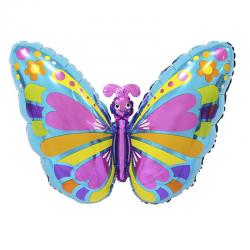 Шар Фигура, Экзотическая бабочка, Голубой.