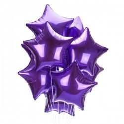 Фиолетовые фольгированные звезды