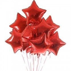 Фольгированные  красные  звезды