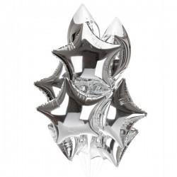 Фольгированные серебряные звезды
