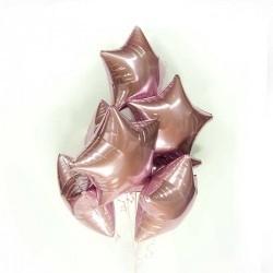 Розовые фольгированные звезды