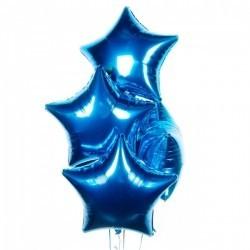 Фольгированные звезды синие