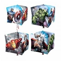 Фольгированный шар-куб Супер герои