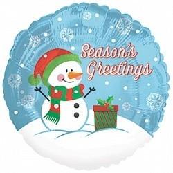 Фольгированный шарик Снеговик