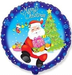Шарики на Новый Год Санта с подарками