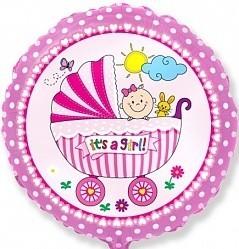 Круг Детская коляска для девочки