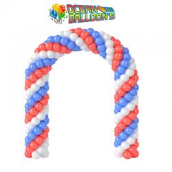 Арка из воздушных шариков Триколор на выпускной