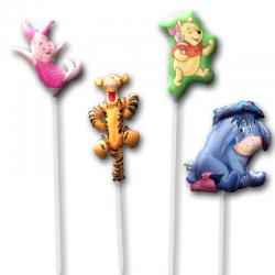 Набор из фольгированных шариков на палочке «Винни-пух»