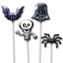 Набор из фольгированных шариков на палочке «Темная Сторона»
