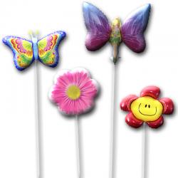 Набор воздушных шаров из цветов и бабочек