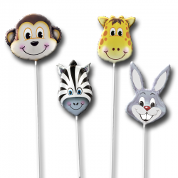 Набор воздушных шаров на палочке «Животные»
