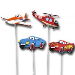 Набор воздушных шаров на палочке Герои любимых мультфильмов