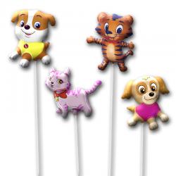 Воздушные шарики на палочке в виде милых животных