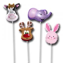 Веселые животные, изображенные на воздушных шариках