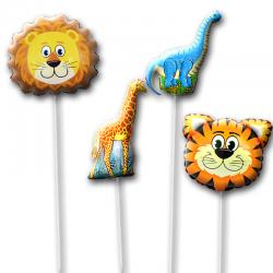 Набор воздушных шаров на палочке «Животные 2»